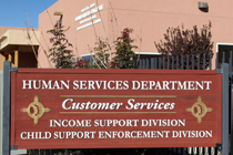 Human Services Department Sign